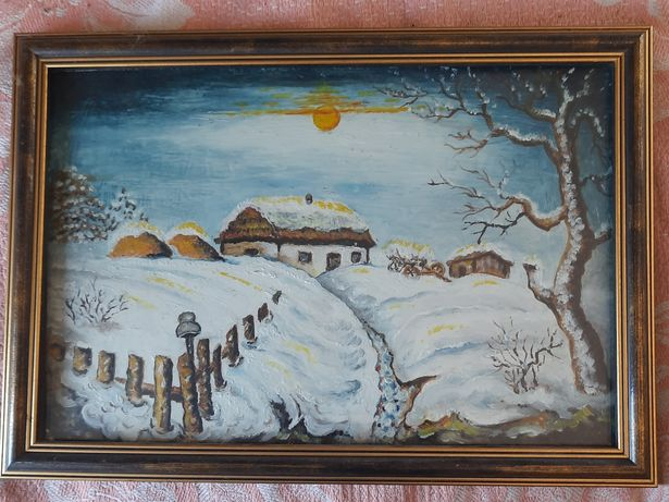 Продам картину зимний пейзаж