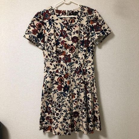 Платье topshop/ цветочный принт/ демисезонное платье/ тренд/ яркий при