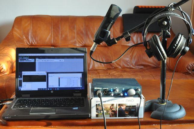 Sprzedam mobilne studio nagrań:Mikrofon MXL+Presonus iTWOBOX+soft
