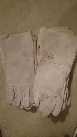 Rękawice spawalnicze skórzane długie