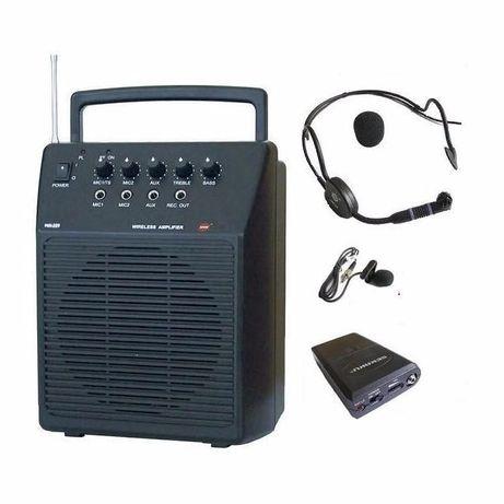 Nagłośnienie przenośne mobilne Sekaku WA-320/VXM-286TS, dwa mikrofony