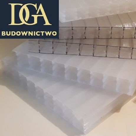 Płyty - poliwęglan komorowy 16mm opal - na naświetla, zadaszenia