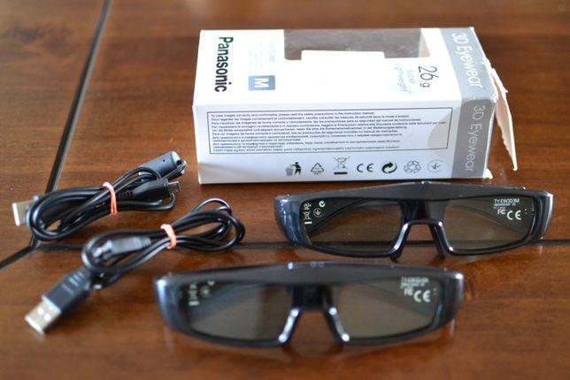 Okulary aktywne 3D Panasonic TY-EW3D3ME cena za 2 pary !!!