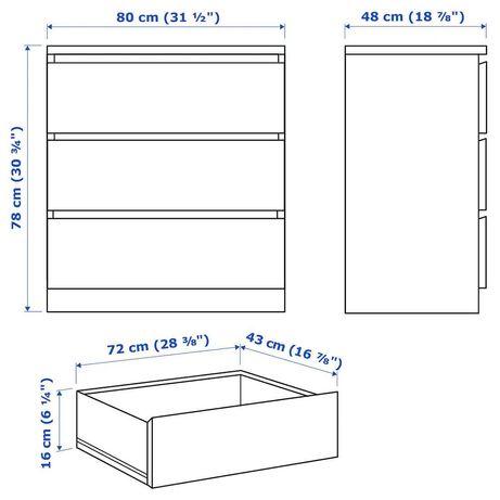Biała komoda IKEA malm