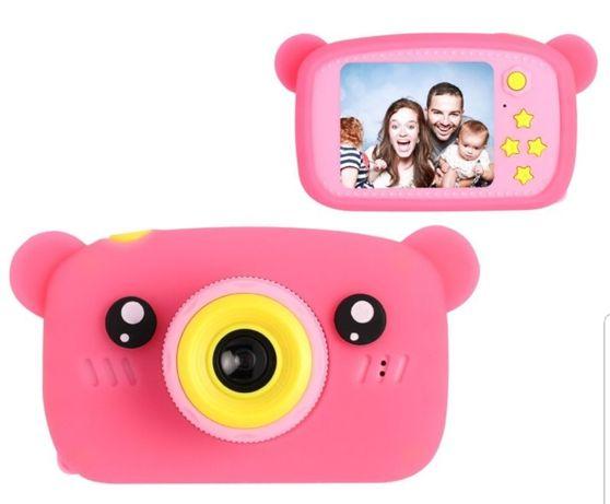 Фотоаппарат детский  Розовый с белым,голубой Подарок