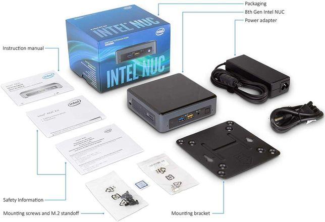 Mini pc Intel NUC Kit NUC8i5BEK com 8gb 2X 4gb ram