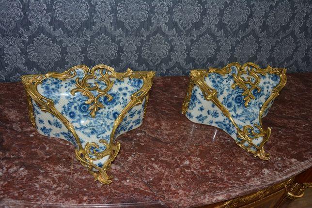 Console de porcelana e bronze