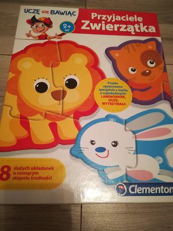 Puzzle zwierzątka 2+
