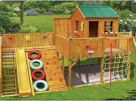 Детский домик игровая площадка горка песочница