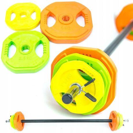 ZESTAW sztanga obciążenie fitness BODY PUMP 20kg crossfit gryf sport