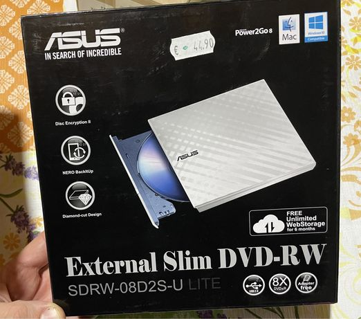 Dvd-Rw Externo USb Asus - Novo