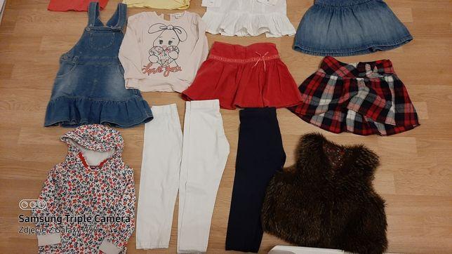 Paka dla dziewczynki bluzeczki koszulki spódniczki  roz 98 2-3 lata