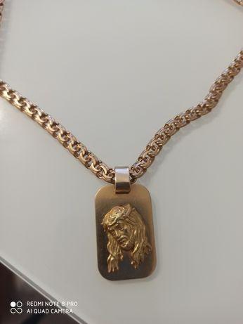Złoty Łancuszek 70 gr z blaszka 585 p.