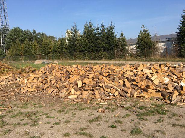 Drzewo kominkowe drewno sezonowane rąbane opałowe buk bukowe