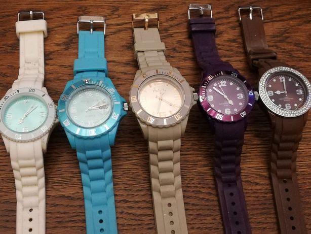 Sprzedam 5szt damskich zegarkow w różnych kolorach silikonowe