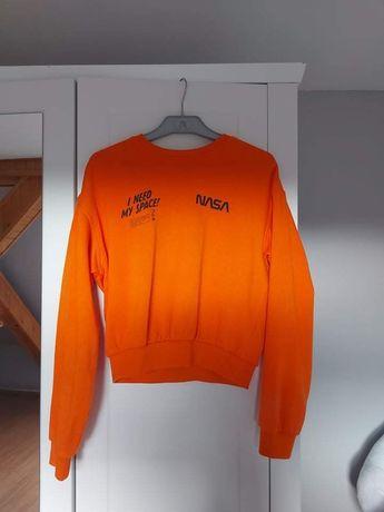 Bluza H&M NASA rozmiar S pomaranczowa neonowa