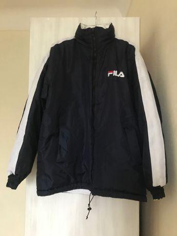 Fila куртка демисезонная утепленная размер L двухсторонняя