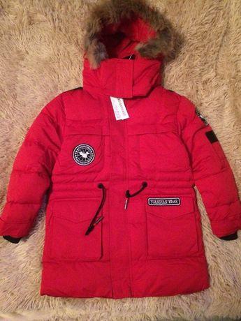 Зимняя куртка для мальчика р.152-158, очень теплая