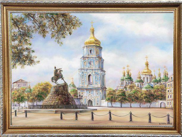 """Картина маслом """"Софиевский собор"""". Торг!"""