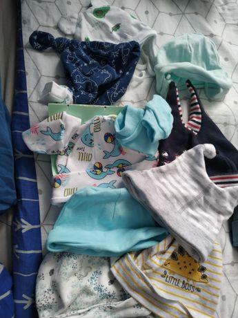 9 sztuk czapeczek niemowlęcych grat 2 szt rękawiczek