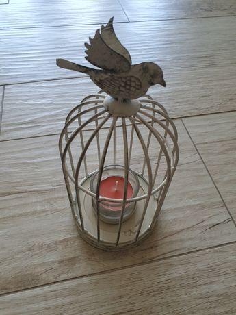 Ozdoba świecznik klatka dla ptaków