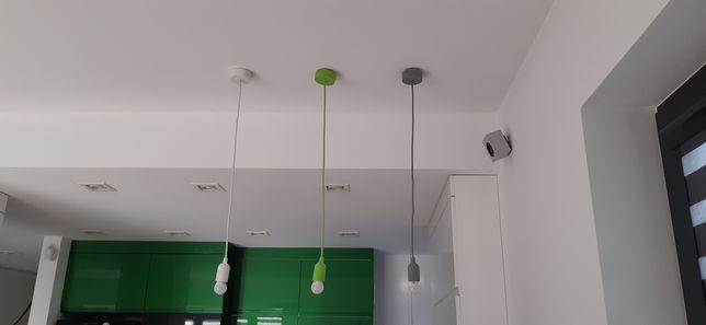 Lampa wisząca oprawa żarówki gratis E27 komplet