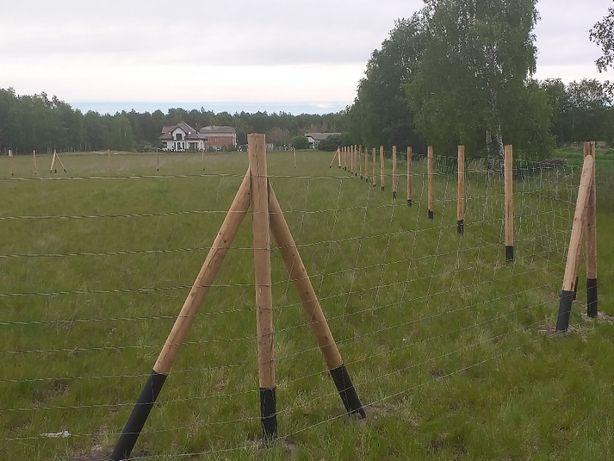 ogrodzenie budowlane tymczasowe siatka leśna