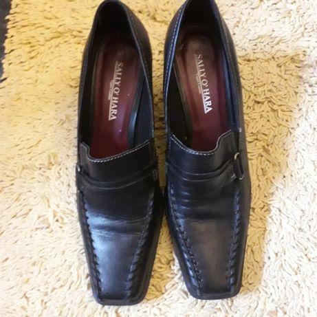 Buty firmowe skórzane. SALLY O' HARA roz. 37 czarne