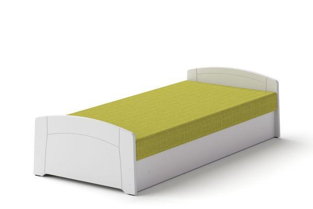 Łóżko M 80 x 200 Biały tapczan z materacem
