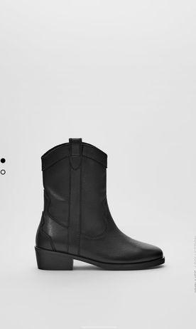 Zara nowe buty, botki skórzane 33