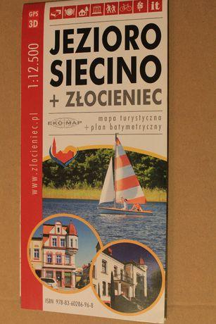 Jezioro Sicino i Złocieniec-mapa 1118