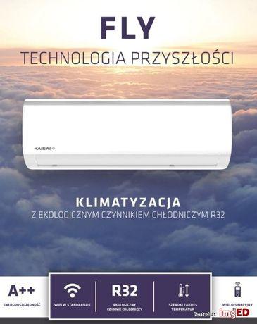 Montaż klimatyzacji/klimatyzator Kaisai Fly 2,6kW WiFi z pompą ciepła
