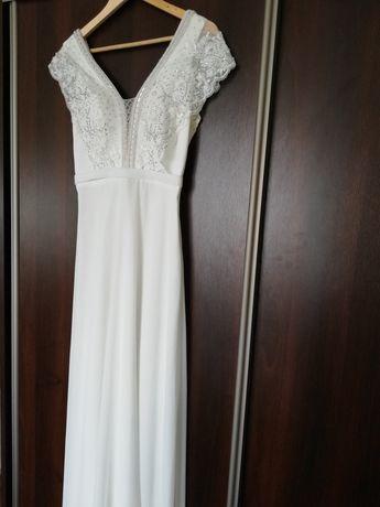 Sukienka ślubna, idealna na ciążowy brzuszek, ślub cywilny i nie tylko