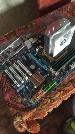 Продам Материскую Плату GIGABYTE GA-M52L-S3P с процессором и памятью