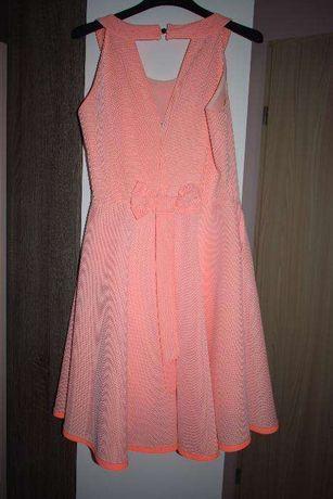 sukienka pudrowy pomarańcz
