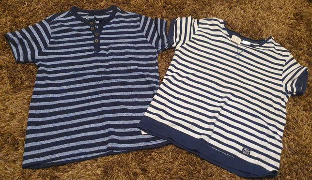 Dwa t-shirty chłopięce rozmiar 104