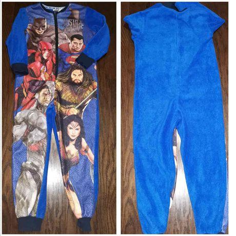 Флисовый слип, пижама Супергерои для мальчика на 5-6 лет, 116 см