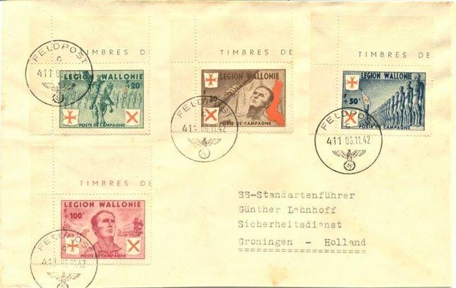 Legion Waloński 1942 - poczta polowa-koperta. GRATIS WYSYŁKA!