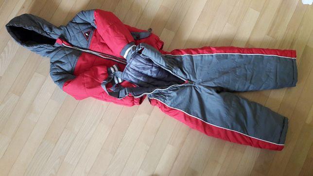 Komplet zimowy narciarski kurtka+spodnie na szelkach rozmiar 2-3 lata