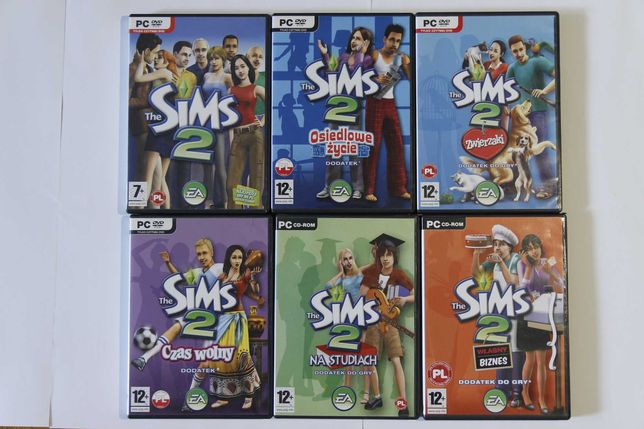 The Sims 2 podstawa + 5 dodatków (na PC)