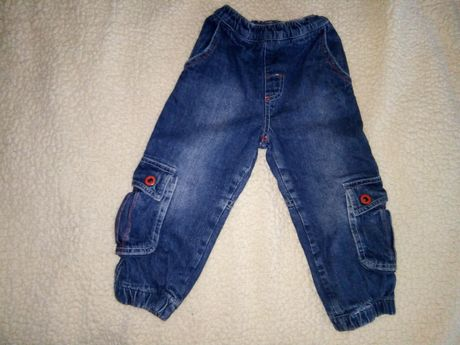 Утеплённые теплые джинсы, 18 м.