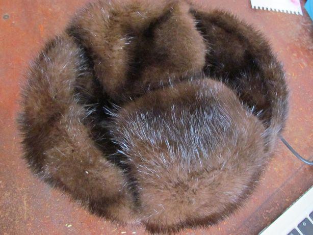 Мужская меховая шапка из норки