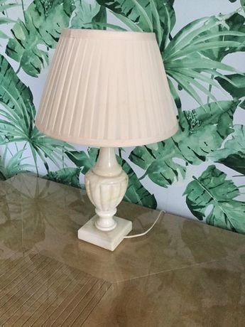 Lampa stołowa alabaster z alabastru