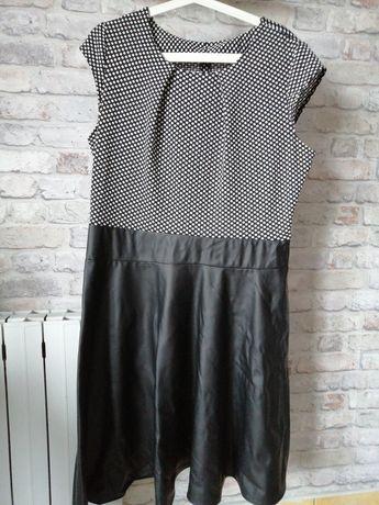 Sukienka skóra ekologiczna. Roz. 46