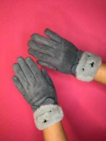 Женские сенсорные теплые рукавички Варежки Перчатки
