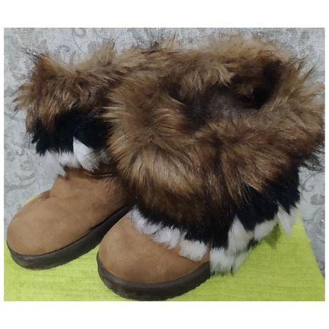 Зимові чобітки зимние ботинки