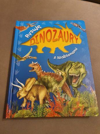 Książka Rysuję dinozaury  z szablonami.