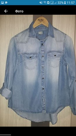 Джинсовая рубашка блуза Next