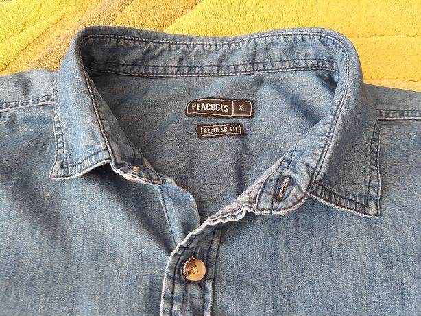 Koszula męska XL denim, stan bdb