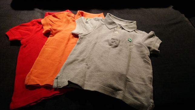 Polos Benetton, varias cores (2 anos - 90cm)